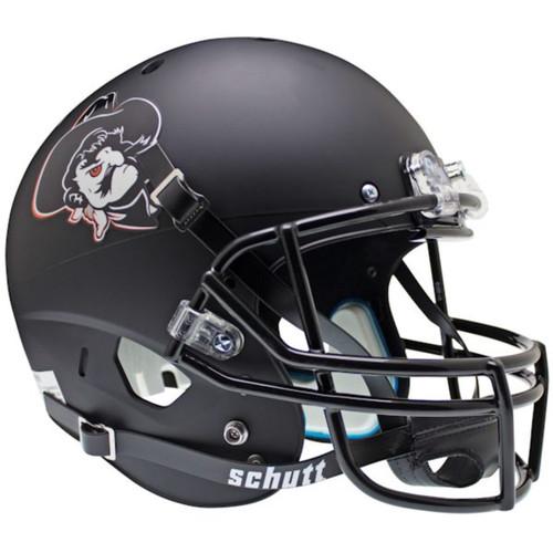 Oklahoma State Cowboys Black Matte Pistol Pete Schutt Full Size Replica XP Football Helmet