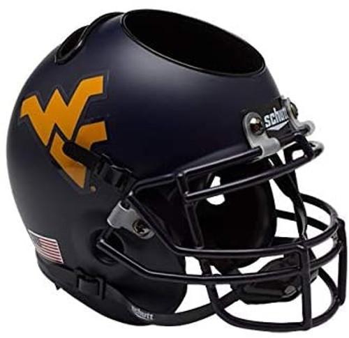 West Virginia Mountaineers Mini Football Helmet Desk Caddy by Schutt