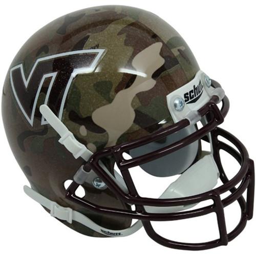 Virginia Tech Hokies ALTERNATE CAMO Schutt Mini Authentic Helmet