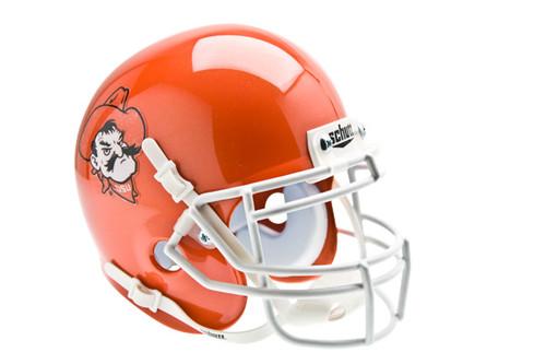 Oklahoma State Cowboys Orange Pistol Pete Schutt Mini Authentic Helmet