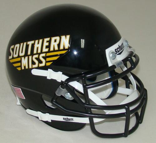 Southern Miss Mississippi Golden Eagles Schutt Mini Authentic Helmet
