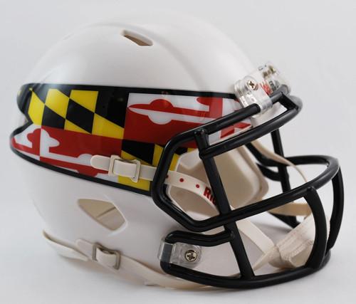 Maryland Terrapins Alternate White NCAA Revolution SPEED Mini Helmet