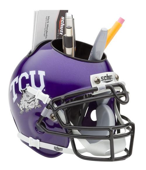 TCU Horned Frogs Mini Helmet Desk Caddy by Schutt