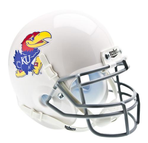 Kansas Jayhawks Alternate White Schutt Mini Authentic Helmet