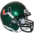 Miami Hurricanes Green Schutt Mini Authentic Helmet