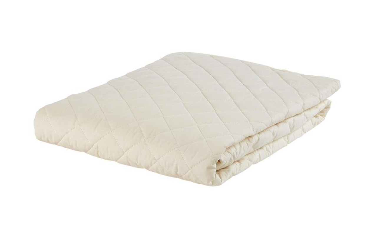 Sleep & Beyond myProtector™, 2-in-1 ultimate, washable, natural mattress protector features wool naked shot