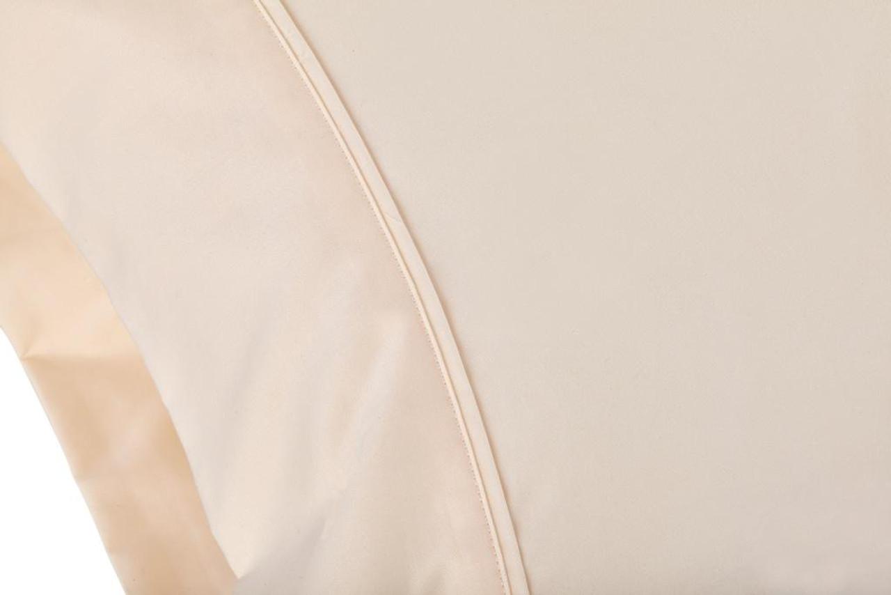 Sleep & Beyond mySheet Set 100% Natural Cotton Sheet Set, natural cotton bed sheets close up