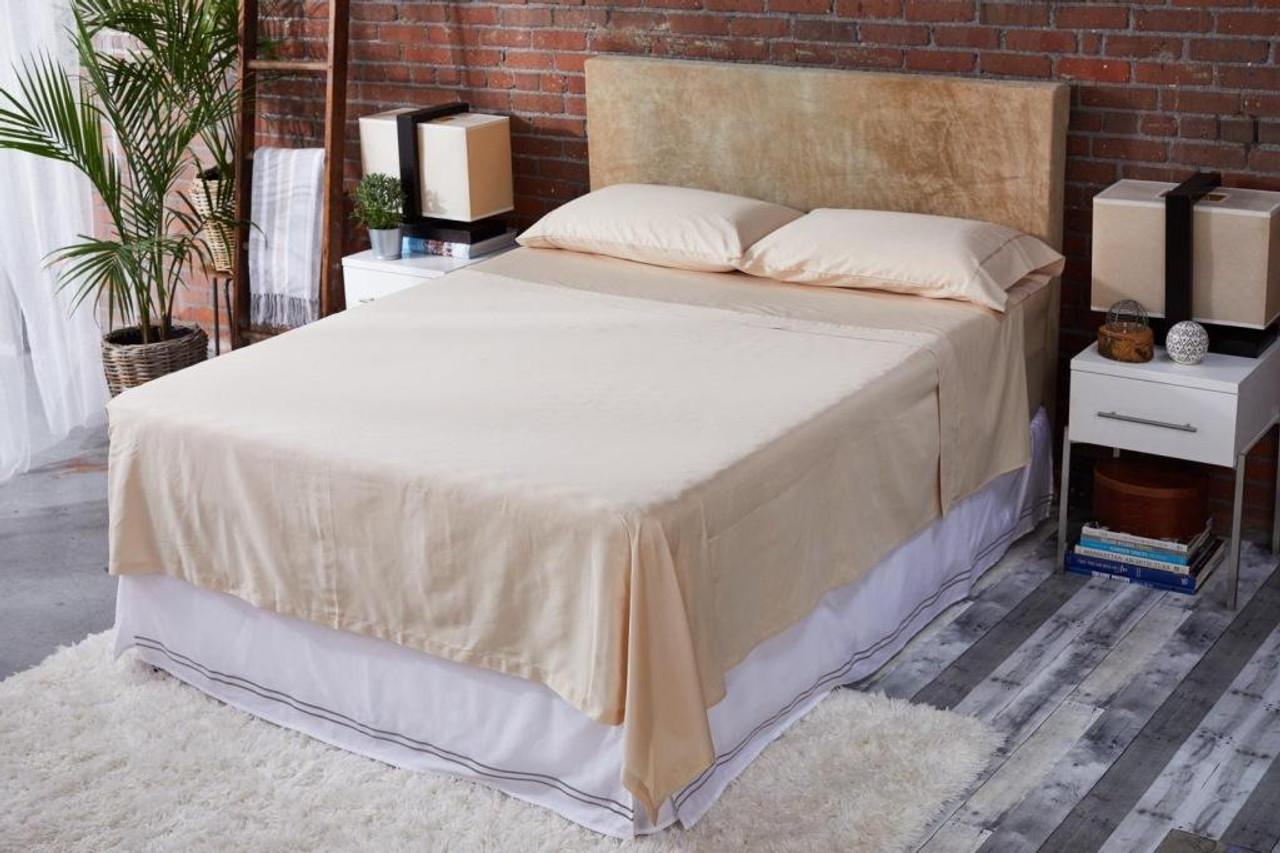Sleep & Beyond mySheet Set 100% Natural Cotton Sheet Set, natural cotton bed sheets made up bed