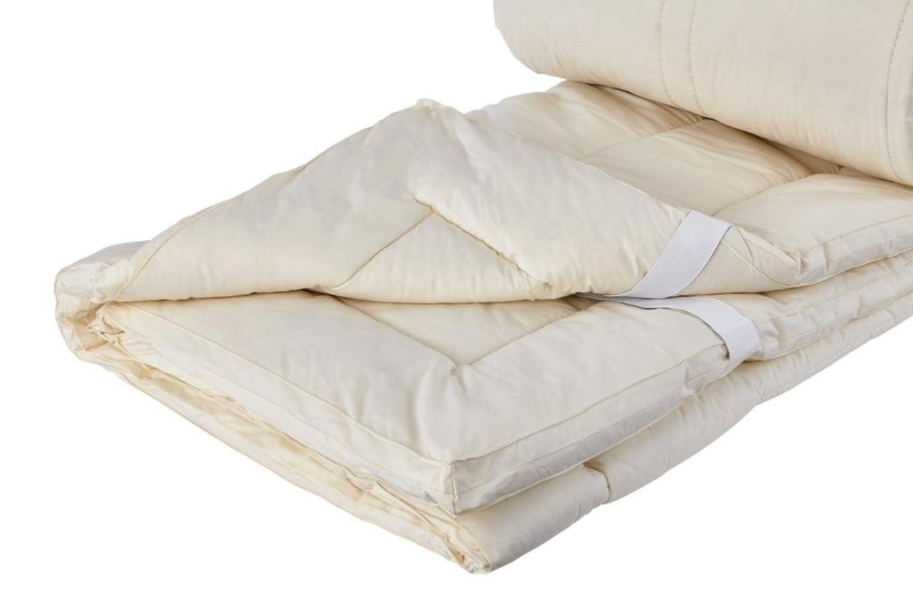 Sleep & Beyond myPad 100% Washable Wool Mattress Pad Folded