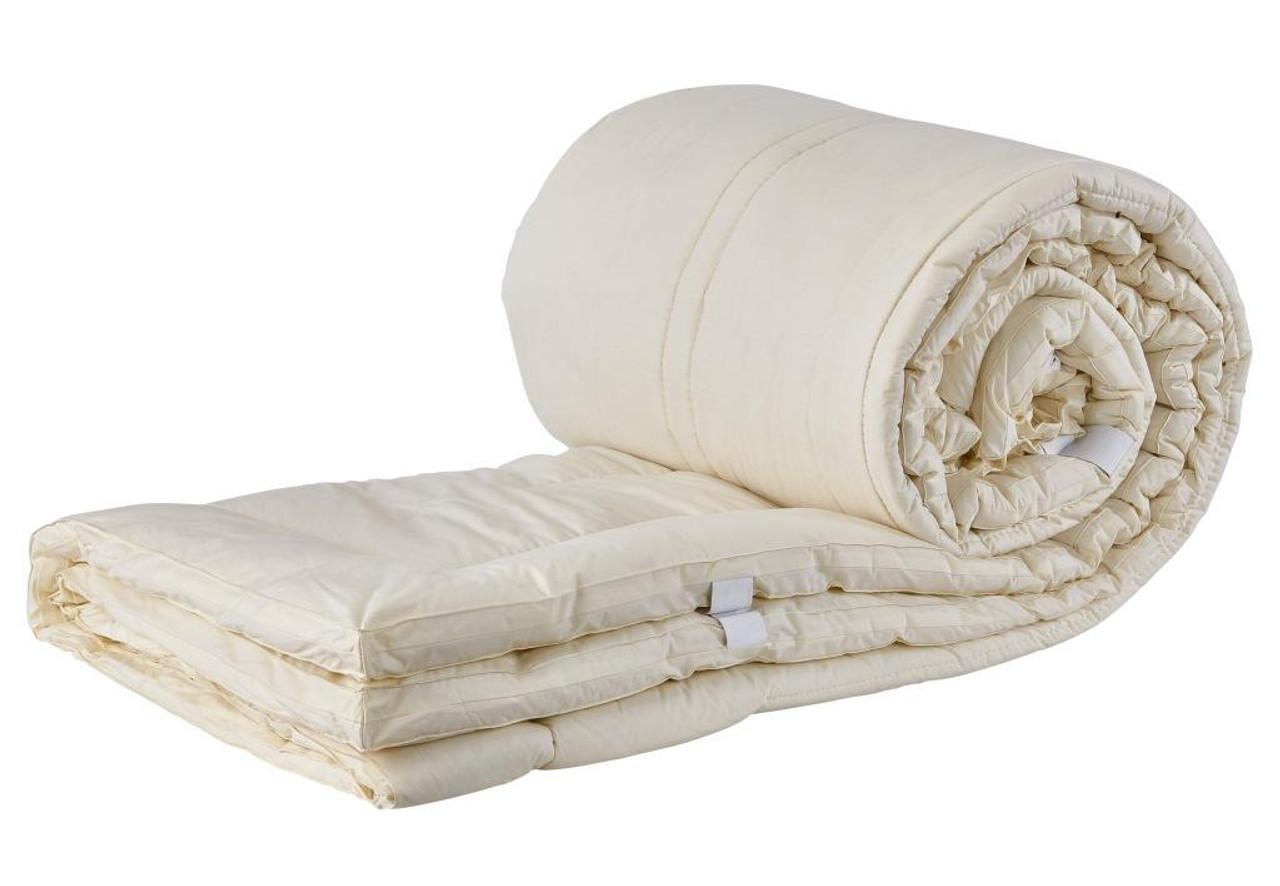 Sleep & Beyond myPad 100% Washable Wool Mattress Pad Rolled Up