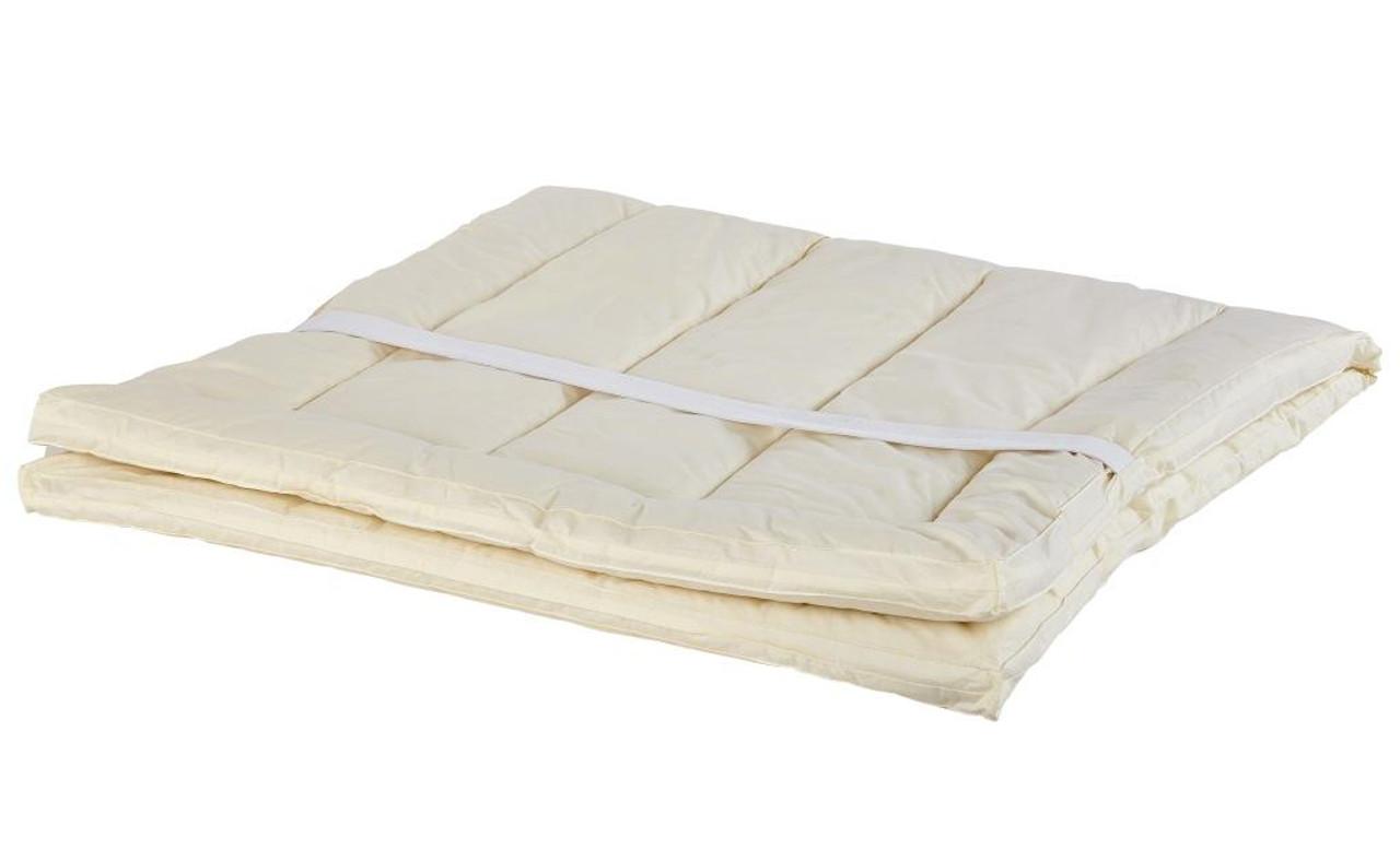 Sleep & Beyond myPad 100% Washable Wool Mattress Pad Spread Out