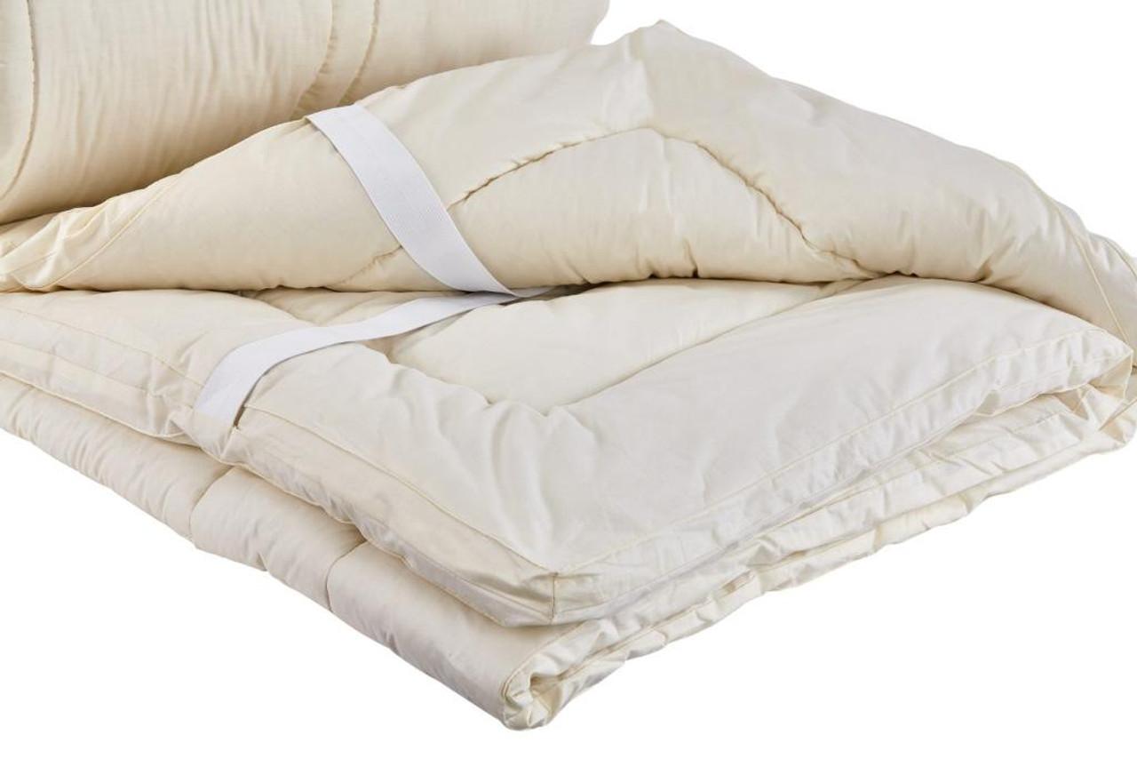 Sleep & Beyond myPad 100% Washable Wool Mattress Pad Detail Up Close