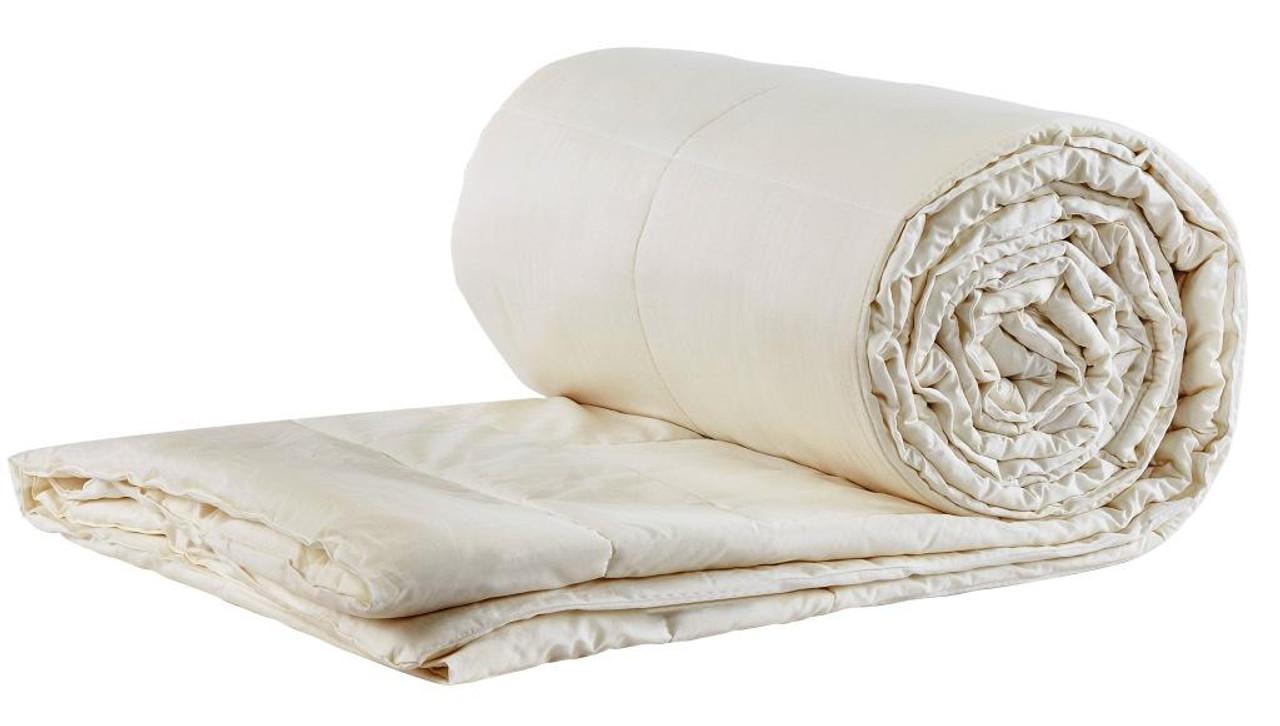 Sleep & Beyond myComforter™ 100% Washable Wool Comforter Rolled