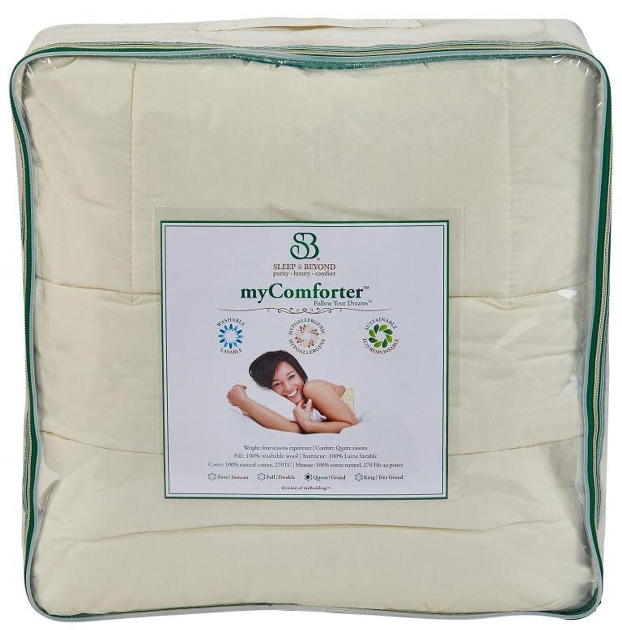 Sleep & Beyond myComforter™ 100% Washable Wool Comforter Package 2