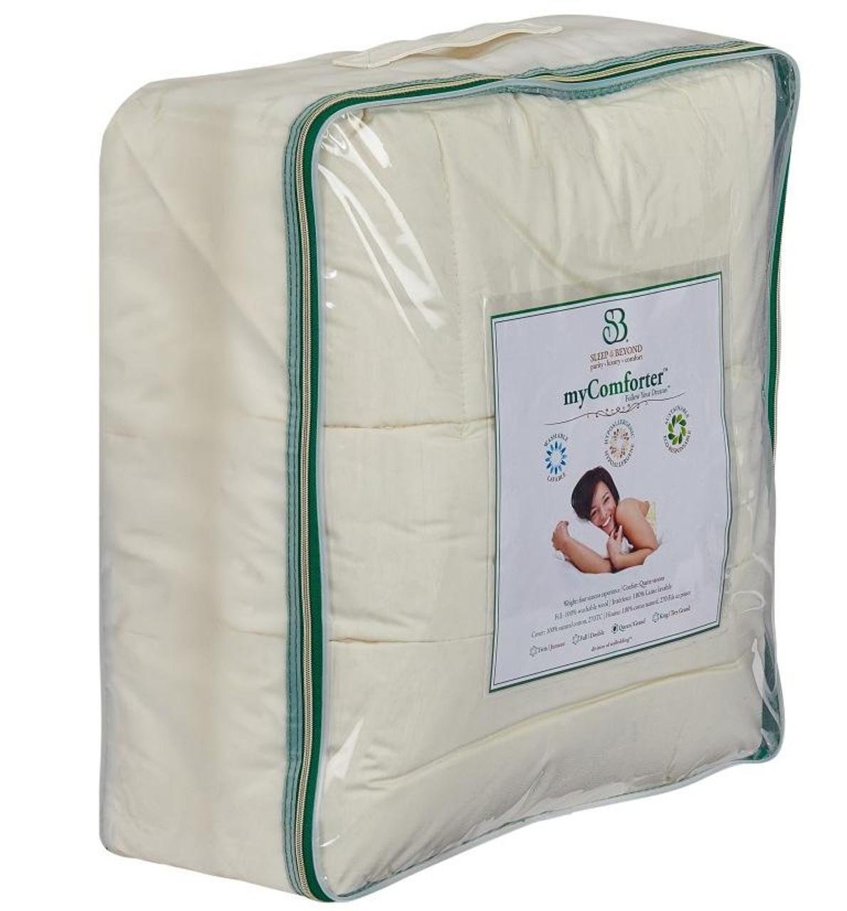 Sleep & Beyond myComforter™ 100% Washable Wool Comforter Front Package