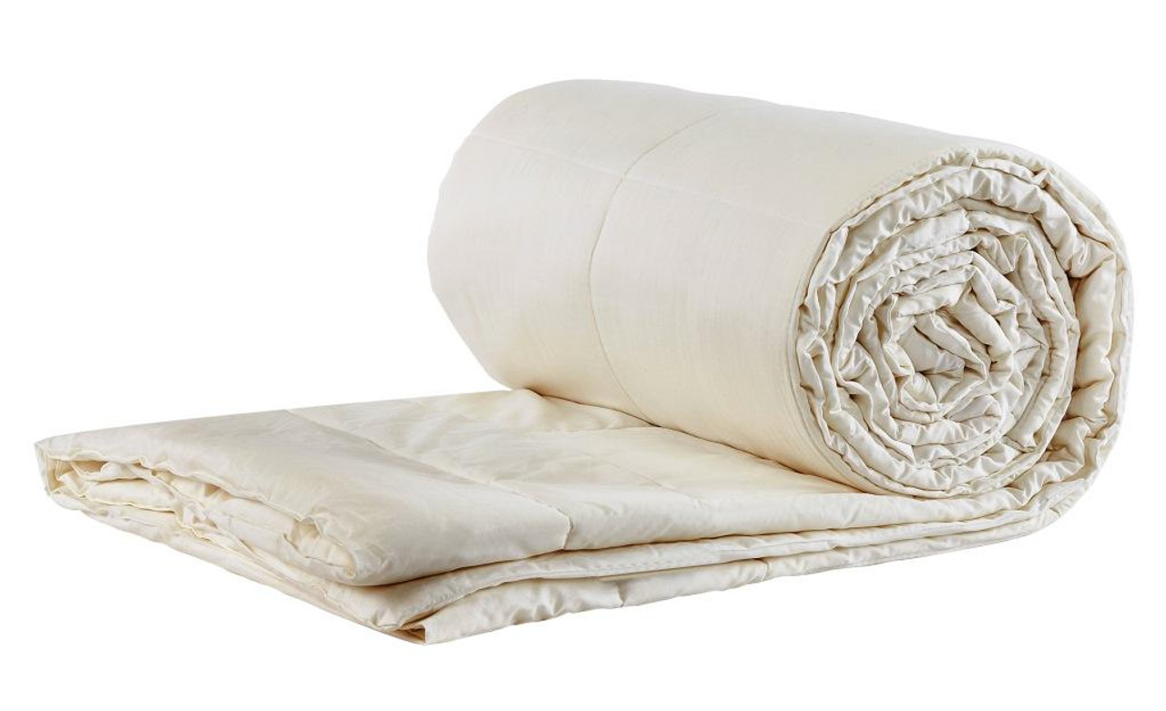 Sleep & Beyond myComforter Light 100% Washable Wool Comforter Rolled Up