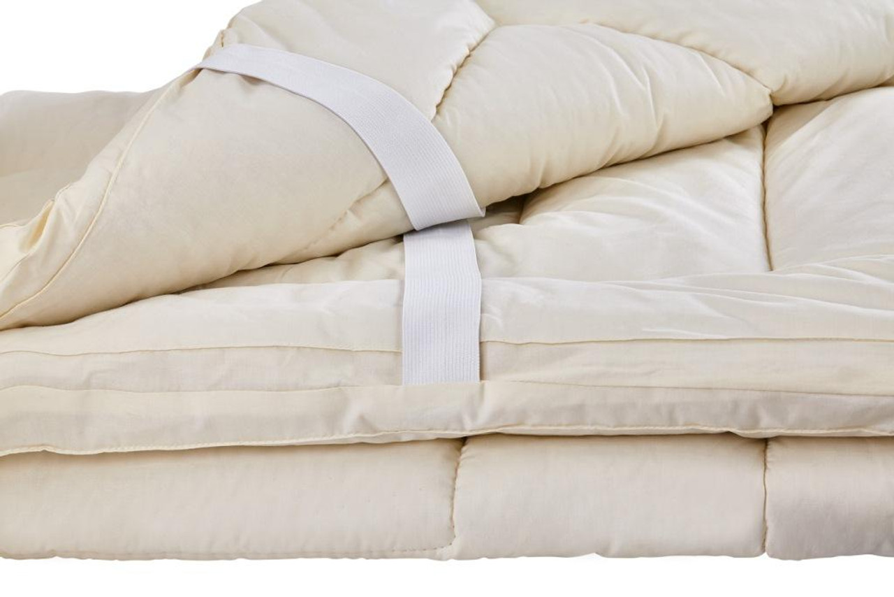 Sleep & Beyond myTopper™ 100% Washable Wool Mattress Topper Close Up Detail