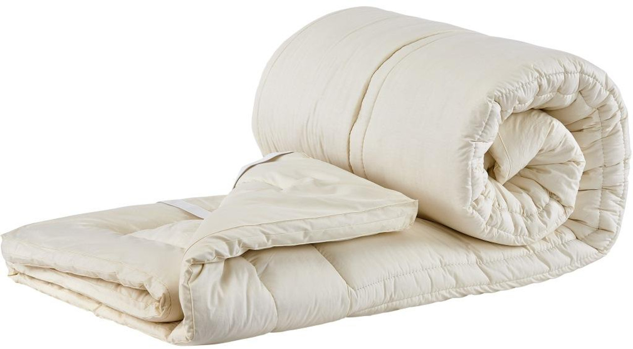Sleep & Beyond myTopper™ 100% Washable Wool Mattress Topper Rolled Up