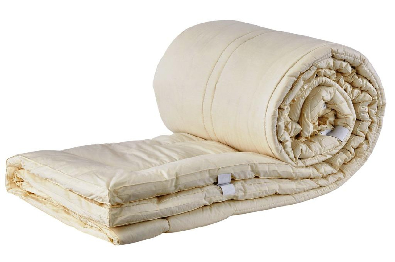 Sleep & Beyond myTopper™ 100% Washable Wool Mattress Topper Rolled & Folded