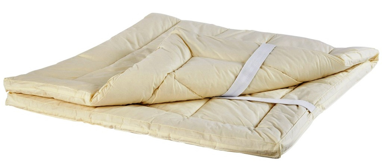 Sleep & Beyond myTopper™ 100% Washable Wool Mattress Topper Layed Out