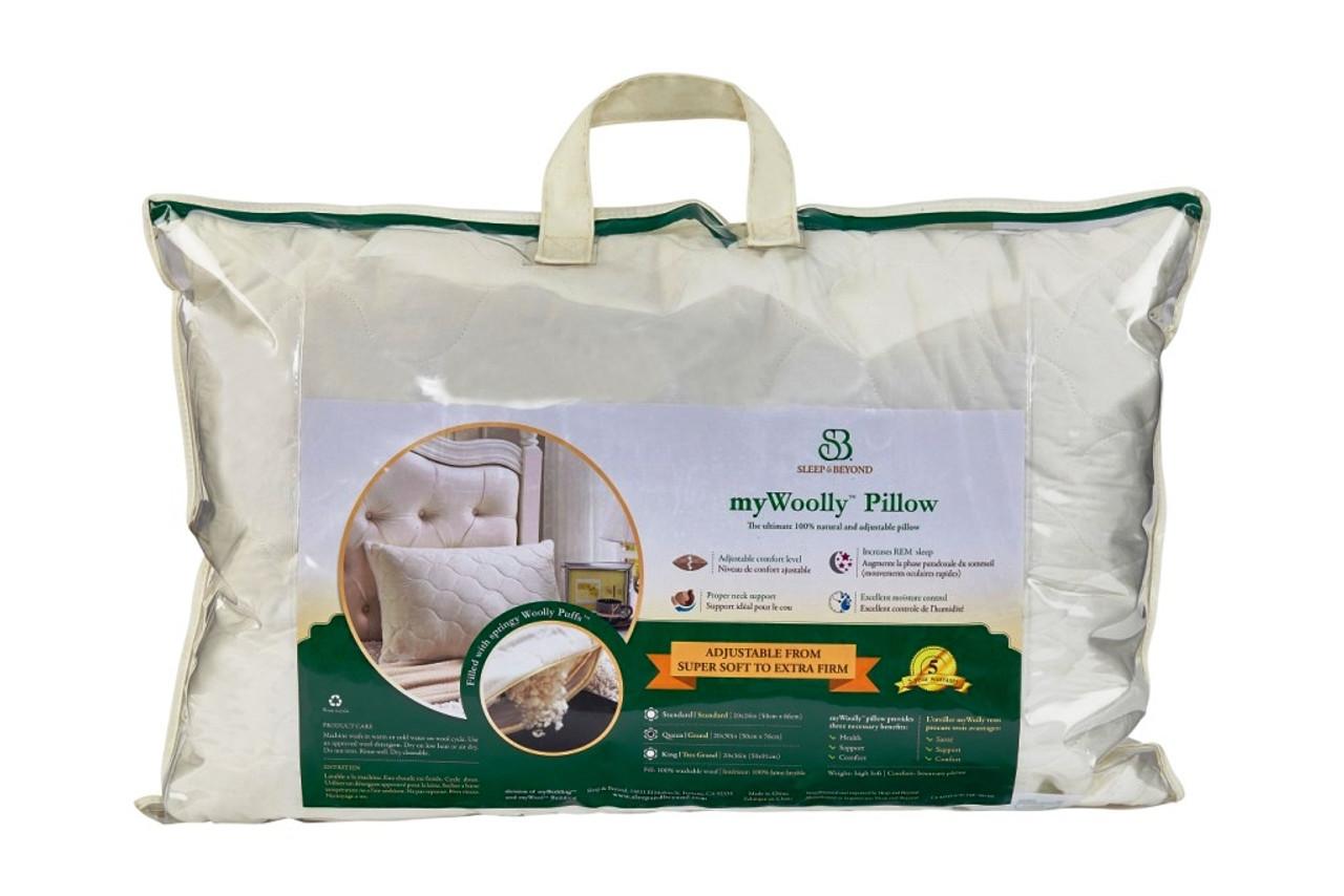 Sleep & Beyond myWool Pillow™ 100% Washable Wool Pillow Packaging 2