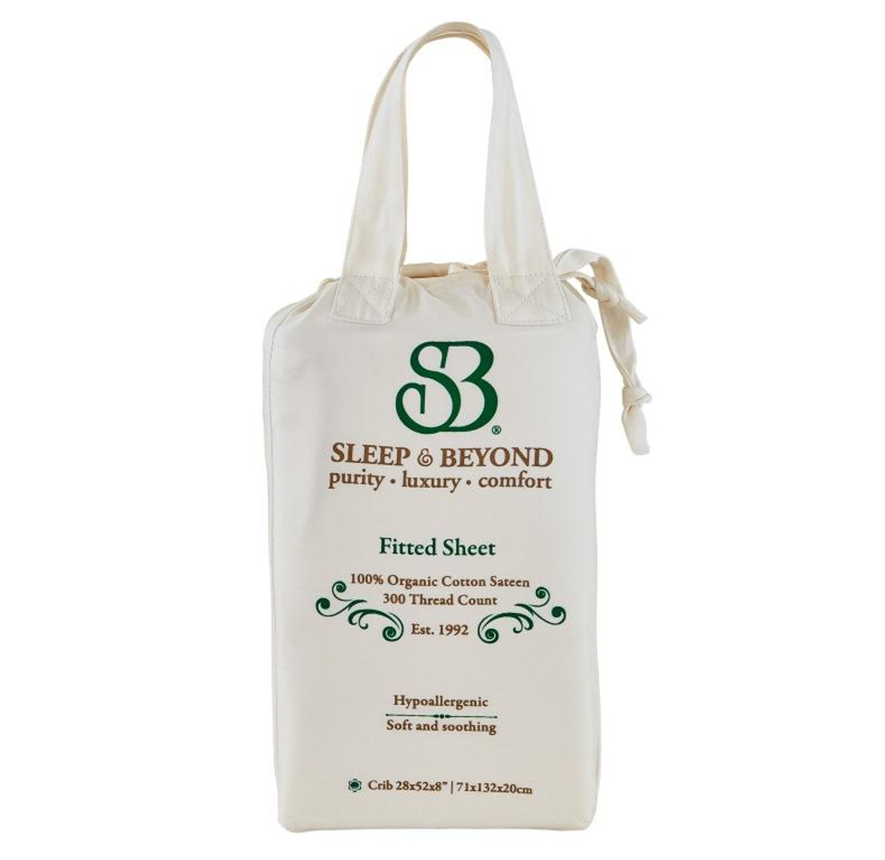 Sleep & Beyond 100% Organic Cotton Fitted Sheet Only Packaging