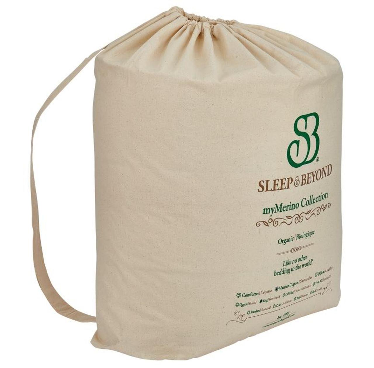 Sleep & Beyond myMerino™ Comforter, Organic Merino Wool Comforter Outer Packaging #2