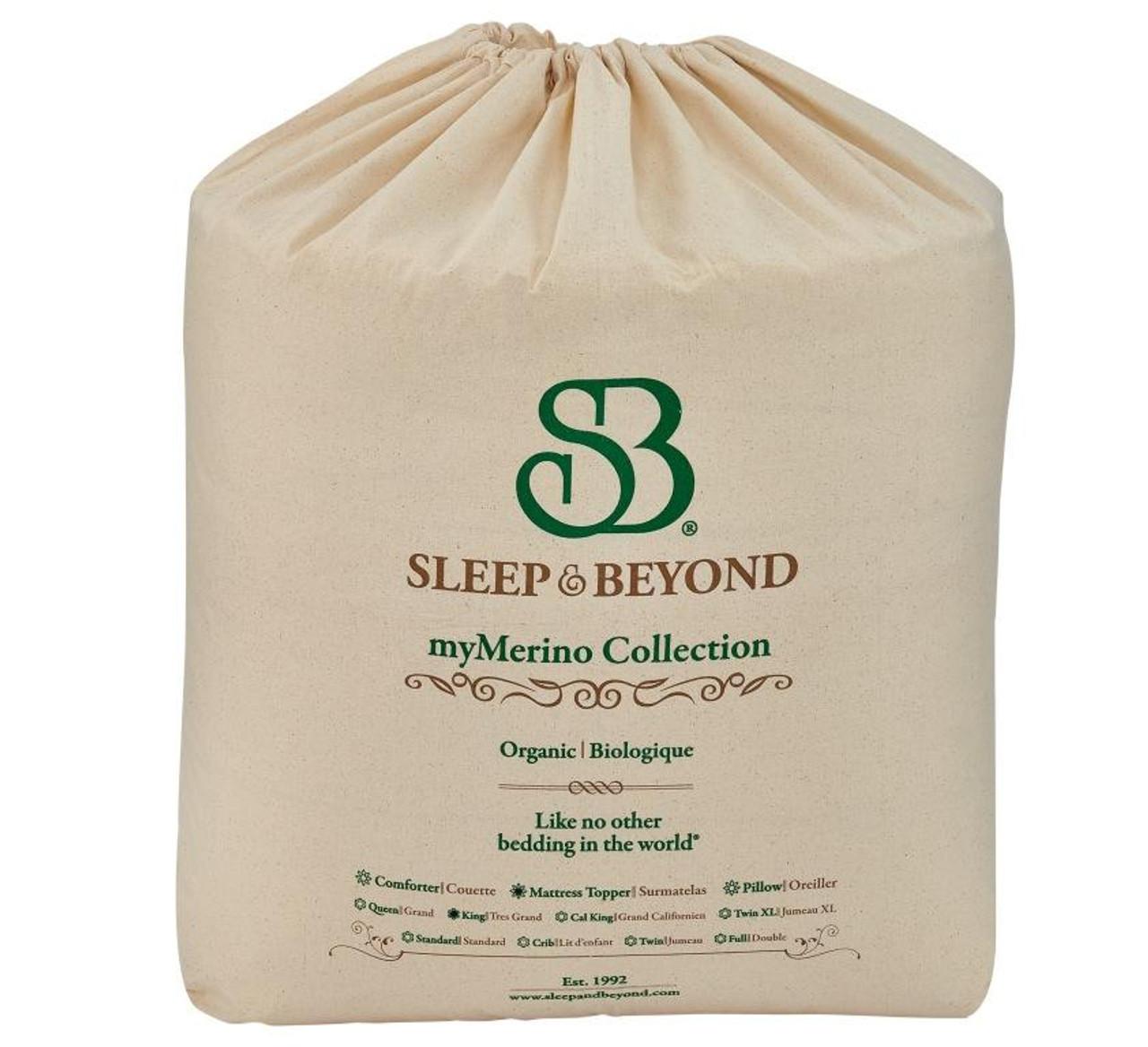 Sleep & Beyond myMerino™ Comforter, Organic Merino Wool Comforter Outer Packaging