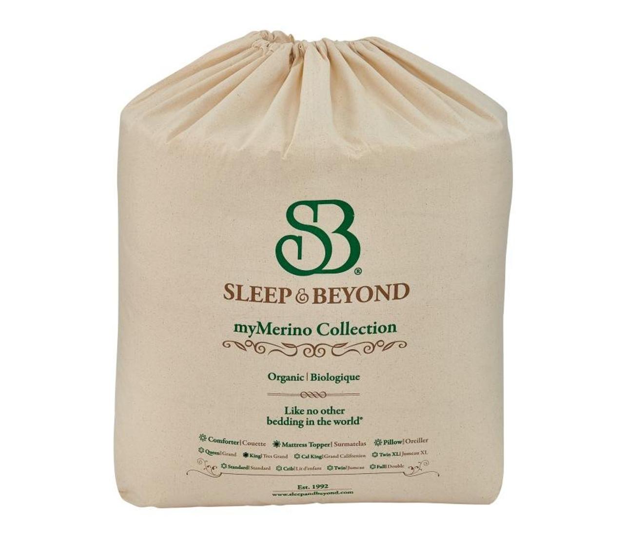 Sleep & Beyond myMerino™ Topper, Organic Merino Wool Mattress Topper Packaging