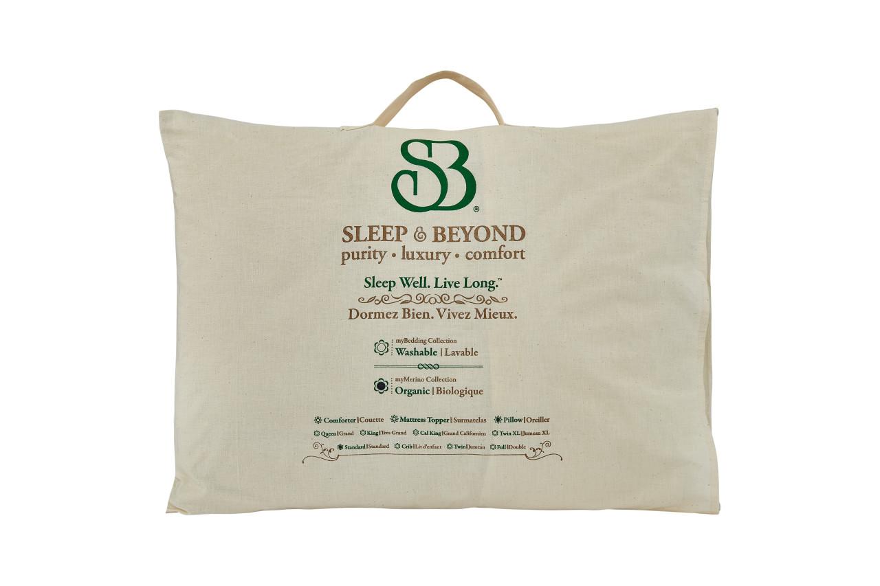 Sleep & Beyond myMerino™ Pillow, Organic Merino Wool Pillow Carry Bag