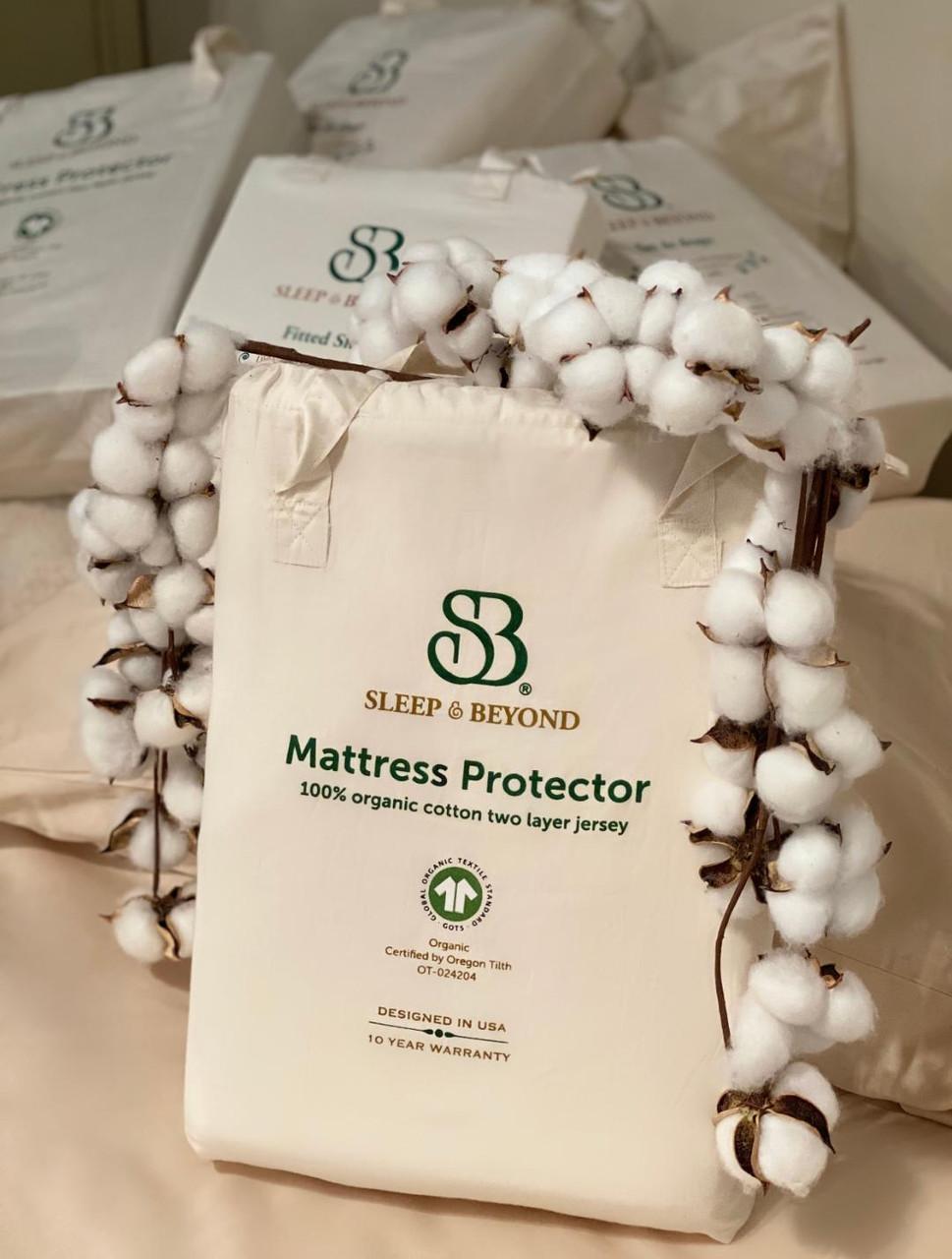 Sleep & Beyond 100% Organic Cotton Waterproof Mattress Protector Wool 2