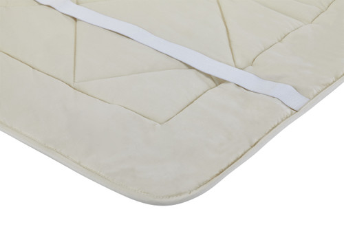 "Sleep & Beyond myDual™ Pad, 100% Washable and Reversible Wool Mattress Pad, Crib 28""x52"" with straps"