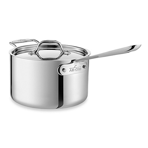 All Clad D3 Stainless Steel 2qt Saucepan W Lid