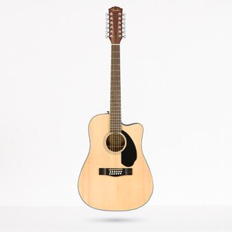 Guitarra Acustica Fender CD60SCE, 12 Cuerdas, Natual WN
