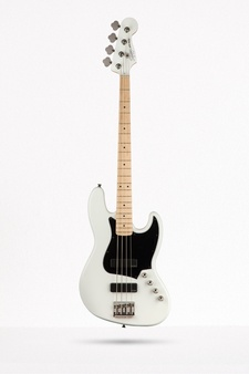 Jazz Bass HH, Contemporary, Maple, Flat White