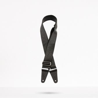 Black Tooled Leather 2 Pulgadas