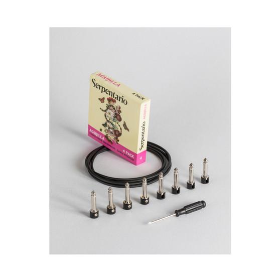 Agujilla, Cable Solderless para Pedales, 4 Pack