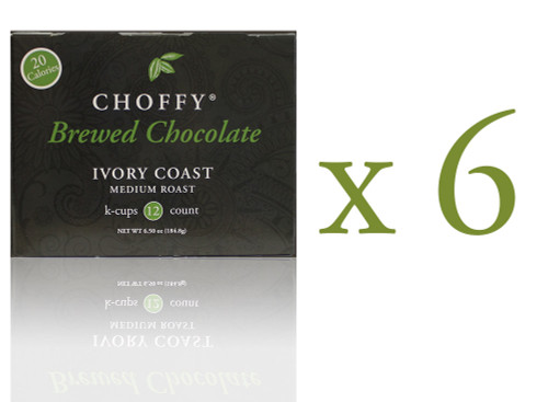 Choffy Brewed Cacao  - Ivory Coast K.Cups Case Pack