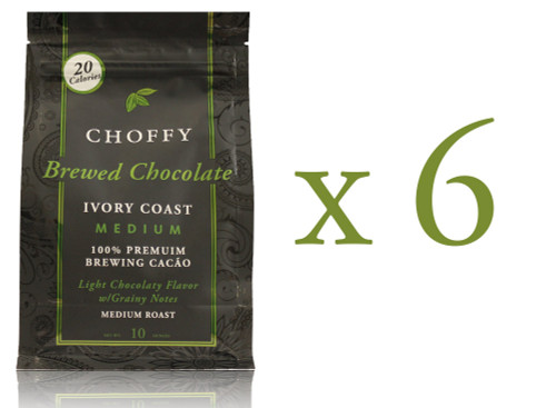 Choffy Brewed Cacao Nibs- Ivory Coast 10 oz. Case of 6