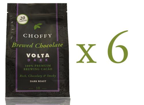 Choffy Brewed Cacao Nibs - Volta Dark 10 oz. Case of 6