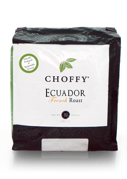 Brewed Cacao  -  Ecuador French Roast - 32oz Coffee Alternative. Ecuador French is the darkest, most roasted type of Choffy