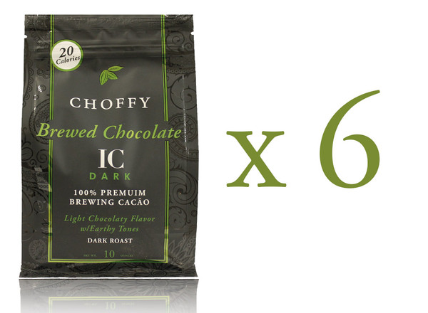 Choffy Brewed Cacao Nibs - IC Dark 10 oz. Case of 6.refined cocoa flavor with subtle earthy notes and a satisfying aftertaste.