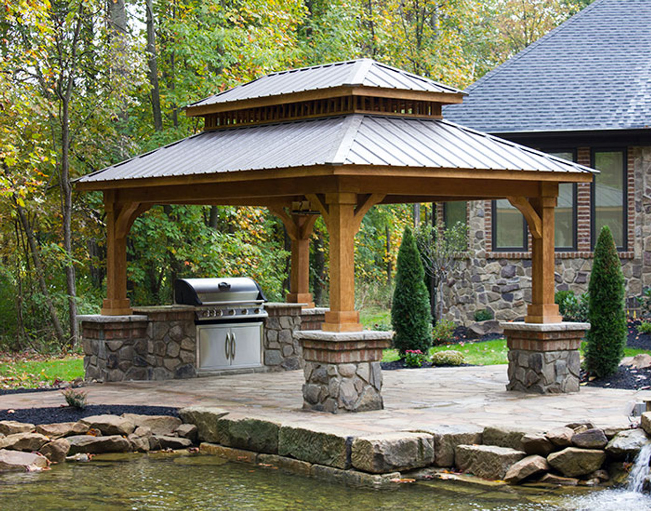 Awesome Cascade Wood Pavilion Kauffman Lawn Furniture Download Free Architecture Designs Licukmadebymaigaardcom