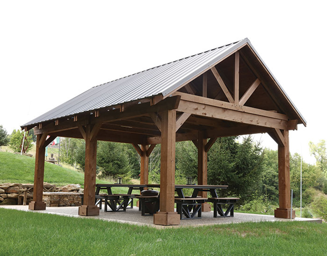 Cool Breckenridge Wood Pavilion Kauffman Lawn Furniture Download Free Architecture Designs Embacsunscenecom