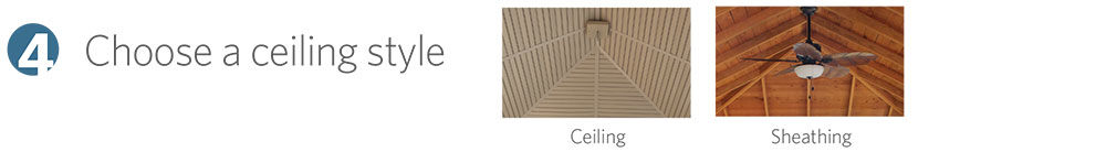 Choose a ceiling style