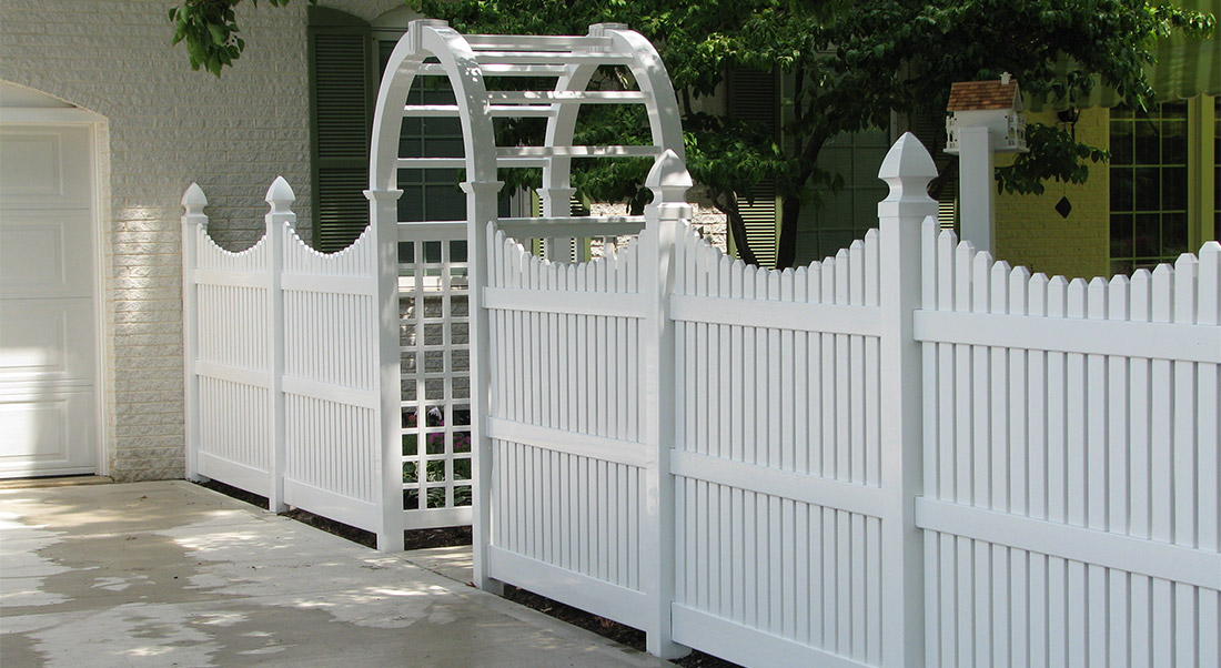 Vinyl Privacy Fence by Mt. Hope Fence