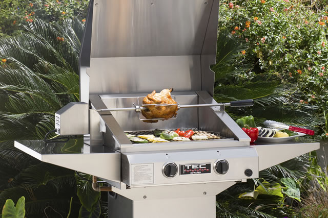 Rotisserie for Sterling II & Sterling G2000 | TEC GRILLS Accessory
