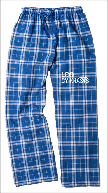 ROYAL AND SILVER FLANNEL BOTTOMS