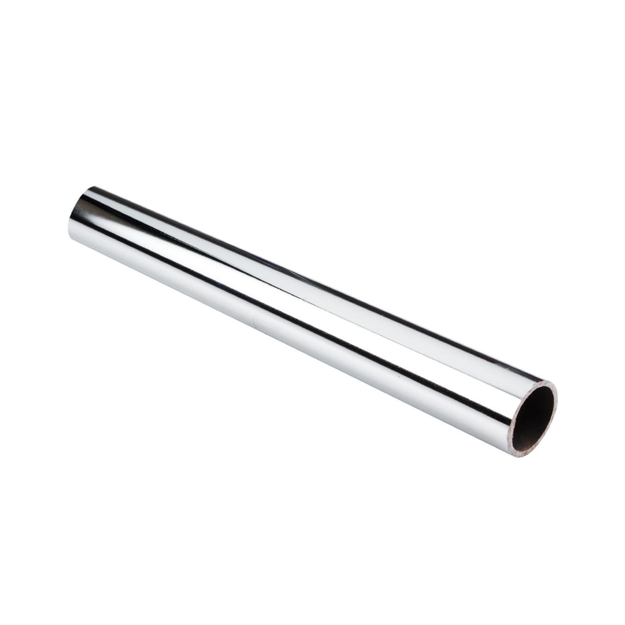"Chrome 1-1/16"" Diameter x 8' Long Round Steel Closet Rod"