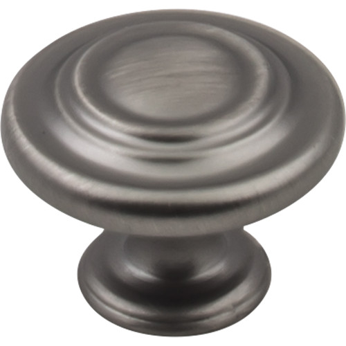 "Brushed Pewter 1-5/16"" Diameter Arcadia Knob"